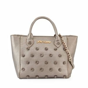 Betsey Johnson Smell The Roses Metallic Tote Bag